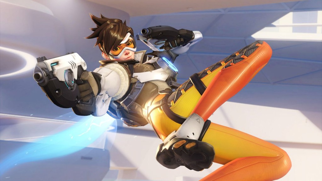Promotional art by Blizzard of Tracer.