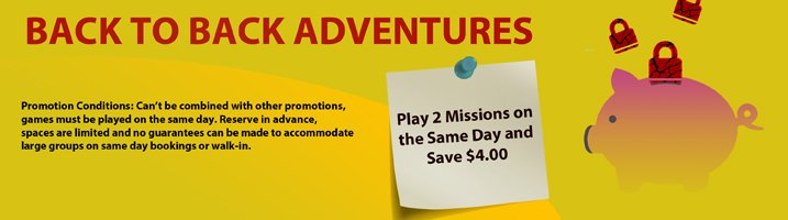 Discounts and Promotions for Room Escape Adventures